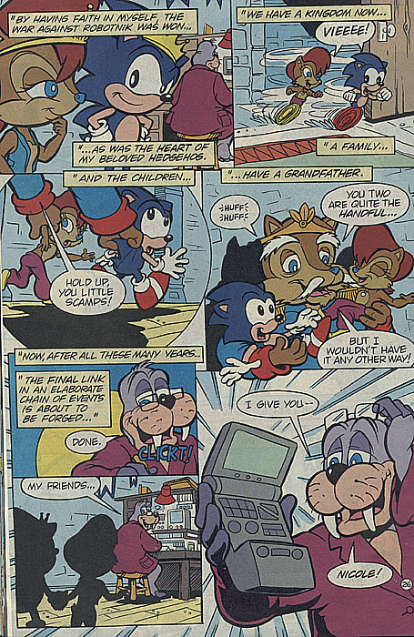 Sonic Hq Project Sonic The Comic Scans Page