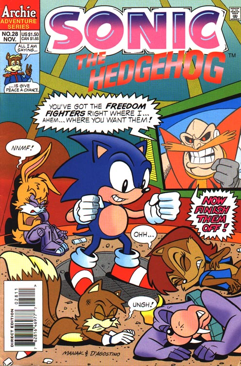 Sonic hq comic scans cover gallery sonic 26 50 sonic 28 altavistaventures Images